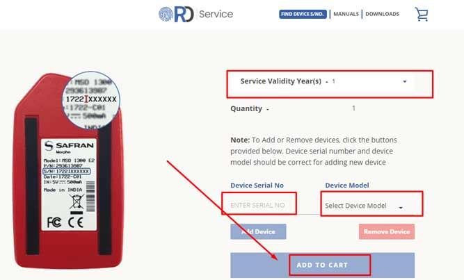 rd service registration